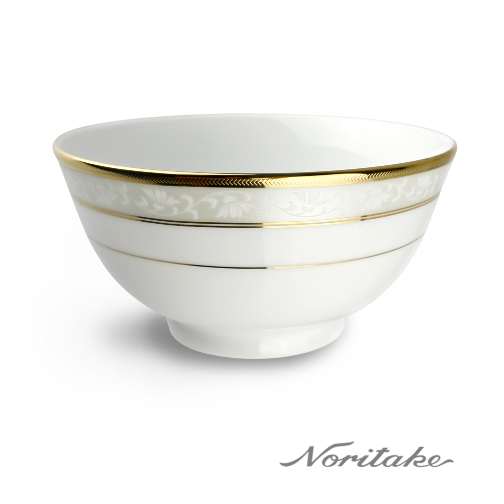 【Noritake】花舞春風金邊麵碗16cm