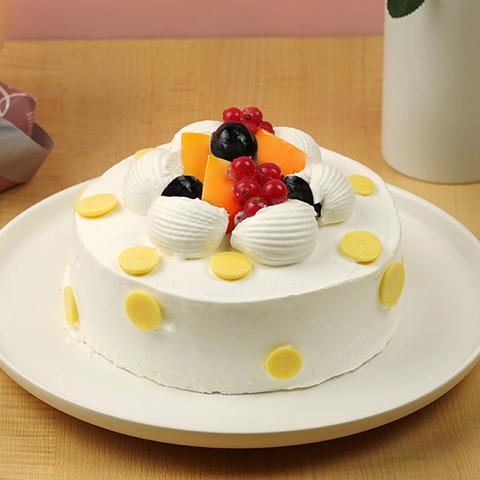 【限門市自取】芒果雙色冰淇淋蛋糕