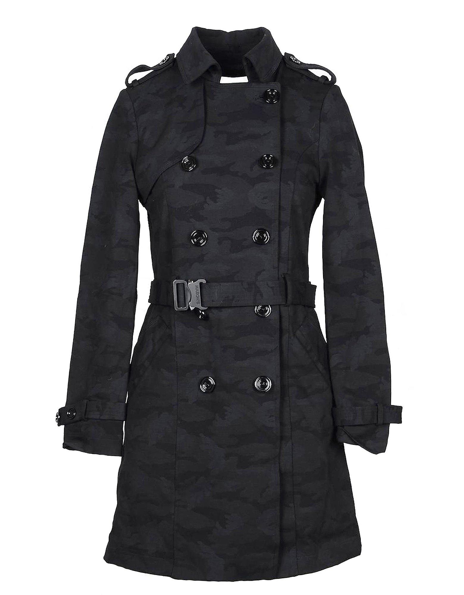 Mason's 外套 & 皮草, Black Wool Blend Trench Coat