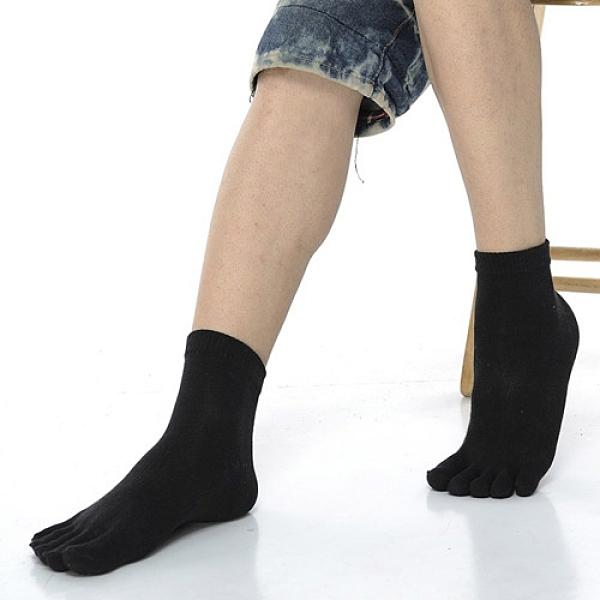 【南紡購物中心】【KEROPPA】可諾帕吸濕排汗竹炭保健五趾男短襪x2雙C90009-黑色