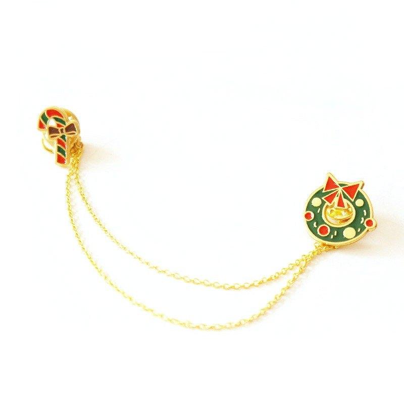U-PICK原品生活 原创可爱圣诞领针女士胸针领口衬衫 圣诞系列2款