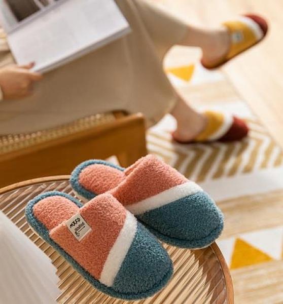 家居鞋 棉拖鞋女冬季家用保暖可愛室內毛絨情侶家居一對秋冬天毛拖鞋男士 維多原創