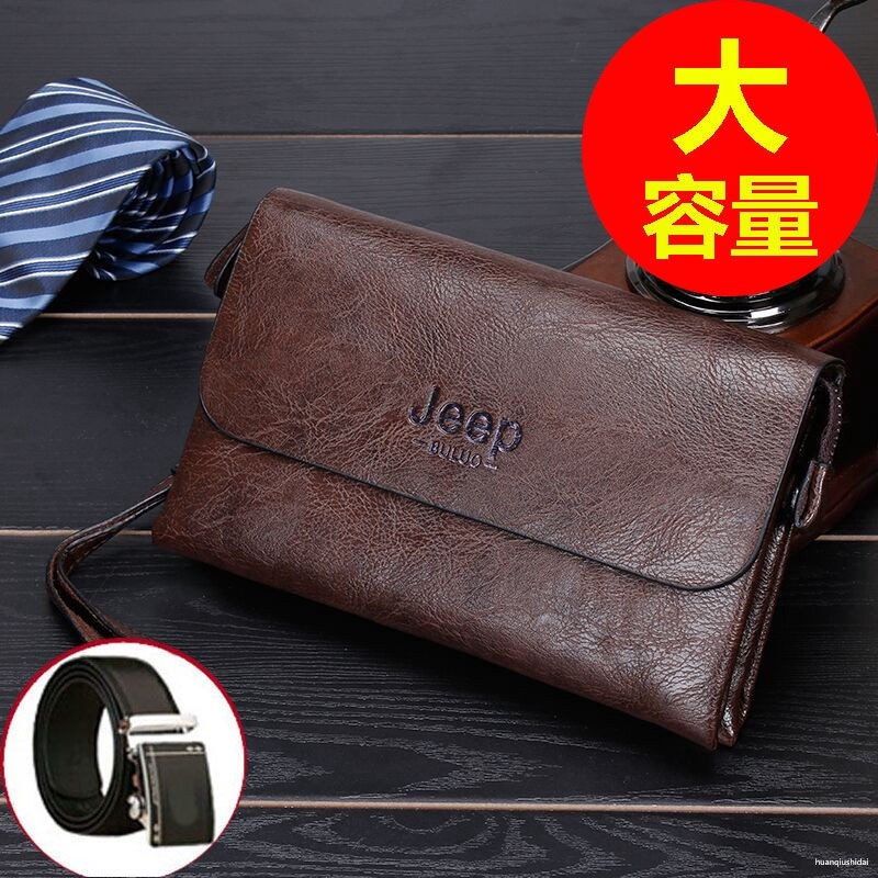 新款大容量男士手包長款拉鏈韓版手拿錢包正品休閑男士包