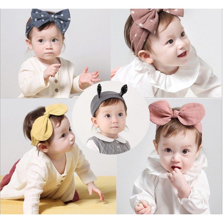 韓可愛彈囟門嬰兒護鹵門發帶甜美頭飾夏季新生兒童女公主0-12個月