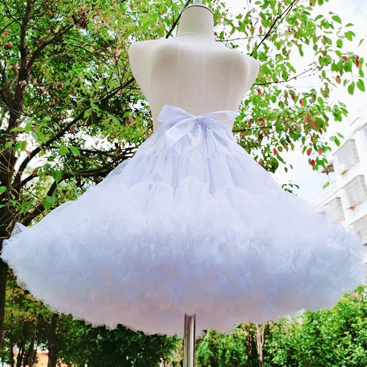 裙撐裙撐lolita洛麗塔日常棉花糖云朵無骨軟紗暴力cosplay蓬蓬裙襯撐~新品