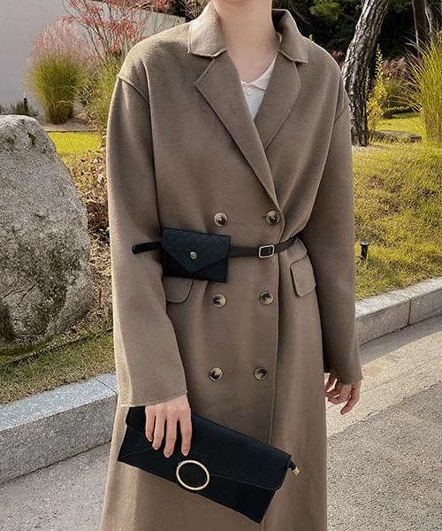 韓國空運 - Rapid Belt Bag Coat-2color 大衣外套