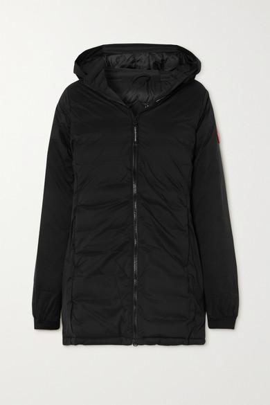 Canada Goose - Camp 格子布羽绒连帽外套 - 黑色 - x small