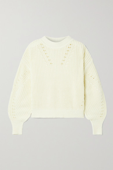 La Ligne - 罗纹纯棉毛衣 - 奶油色 - medium