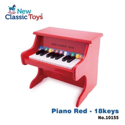 荷蘭New Classic Toys 幼兒18鍵鋼琴玩具-經典紅(10155)