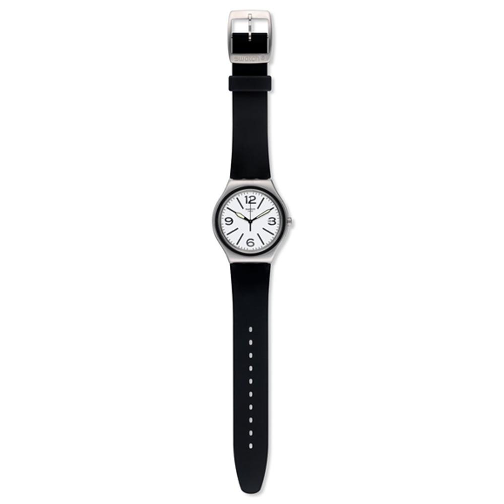 Swatch NOIR DU SOIR 日期 夜光 腕錶 手錶 黑 YWS424