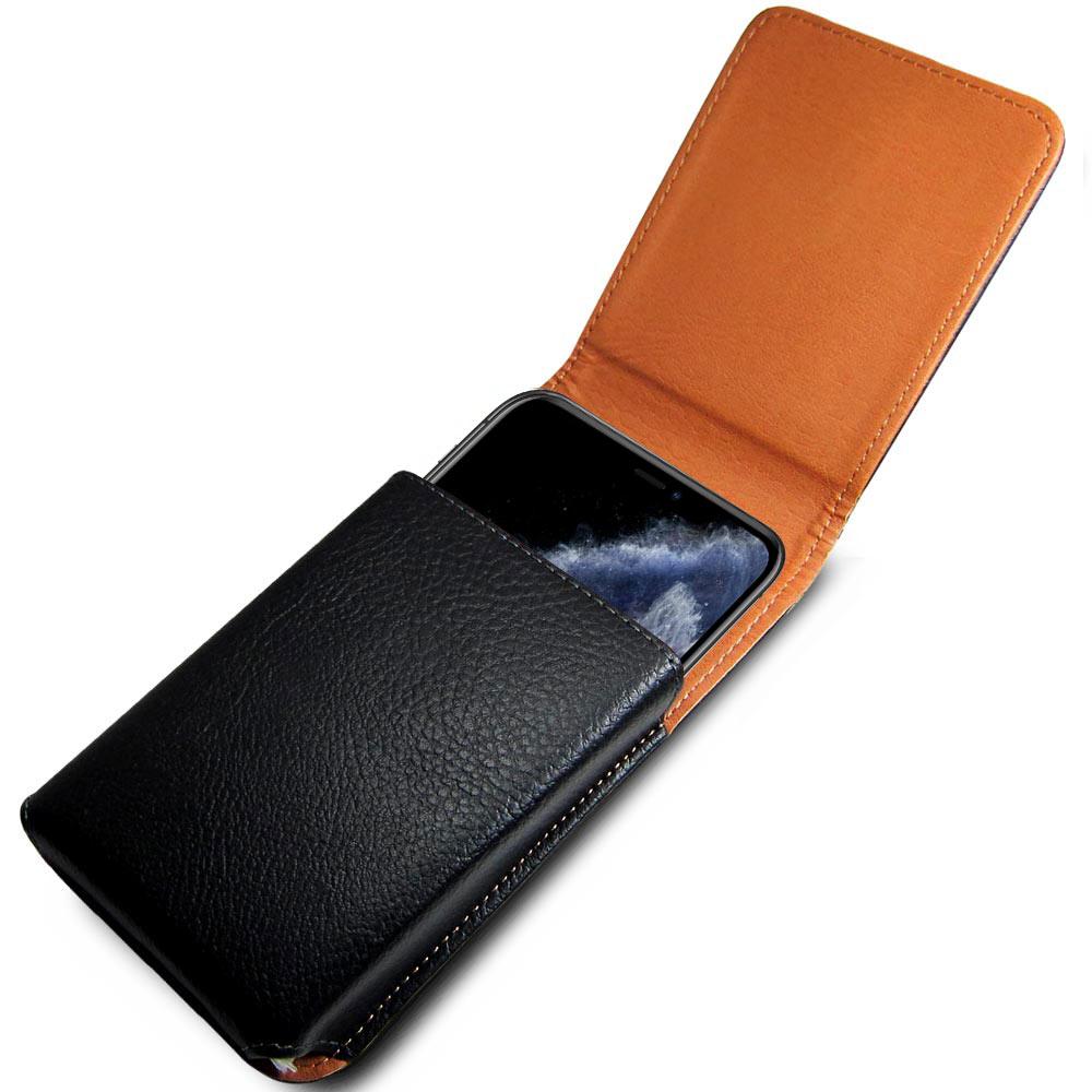 皮套達人  Apple iPhone 11 Pro Max 6.5吋腰掛直立式荔枝紋皮套+ 防爆鋼化玻璃貼
