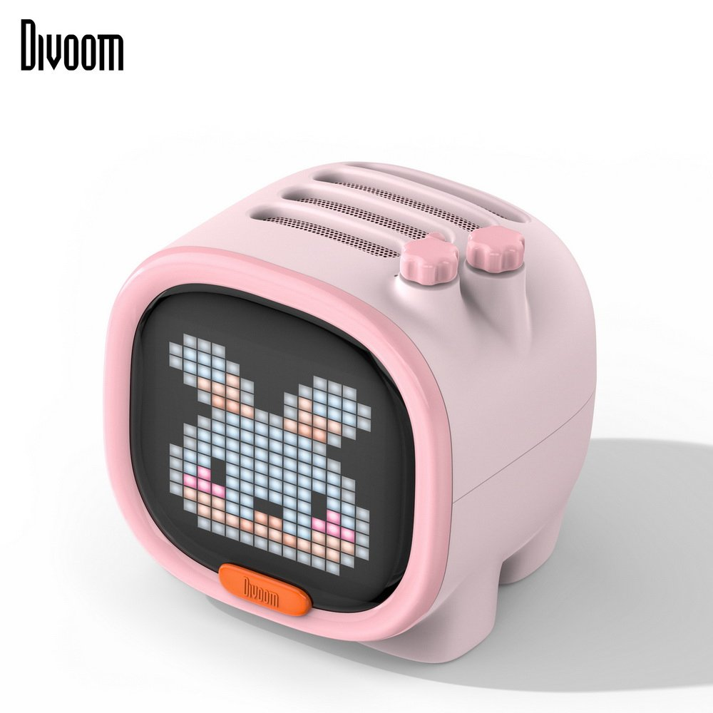 Divoom TIMOO像素藍牙喇叭-戀愛粉
