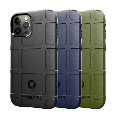 QinD Apple iPhone 12/12 Pro 戰術護盾保護套