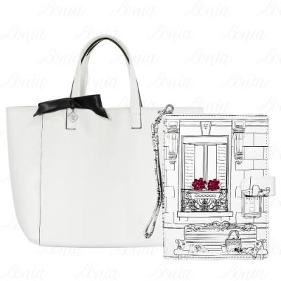 LANCOME 蘭蔻 完美巴黎時尚提包+時尚法式手拿包