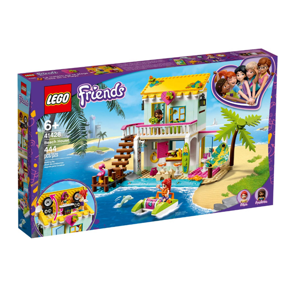 41428【LEGO 樂高積木】姊妹淘 Friends 系列 - 海灘小屋 (444pcs)