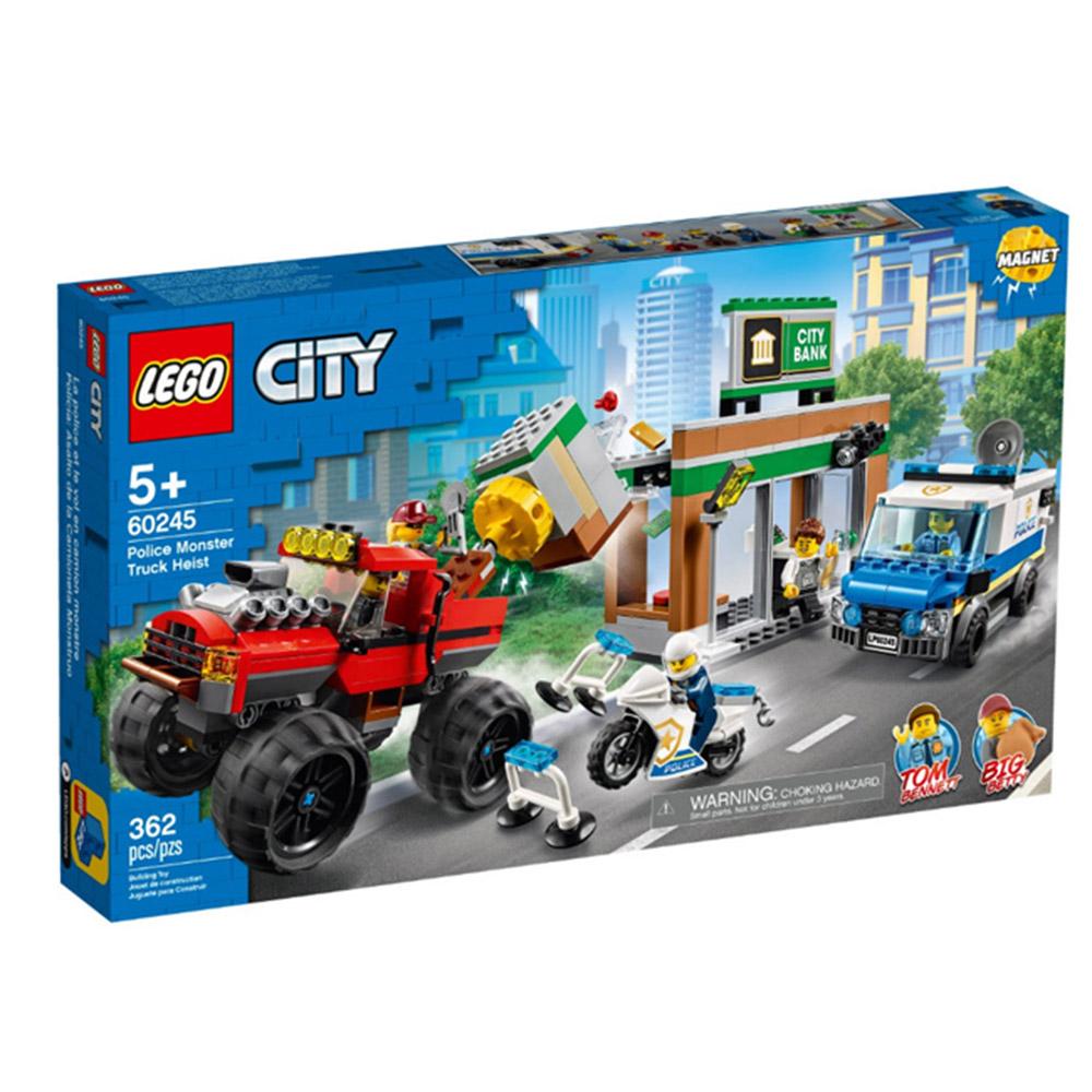 60245【LEGO 樂高積木】城市 City 系列 -  警察巨輪卡車搶案(362pcs)