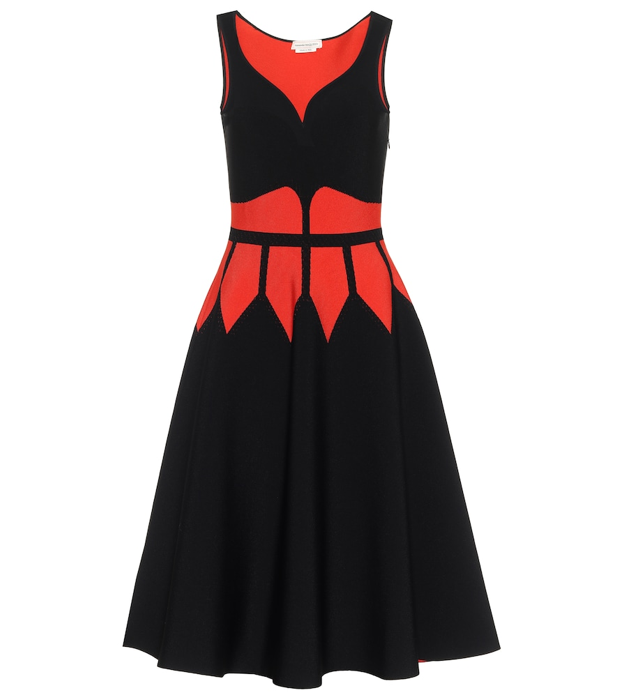 Intarsia midi dress