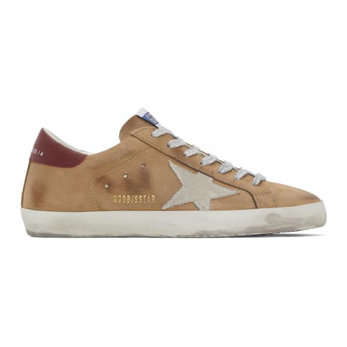 Golden Goose 棕色 Superstar 牛巴革运动鞋