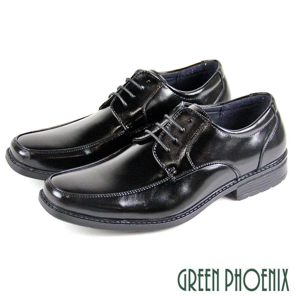 【GREEN PHOENIX】線條剪裁縫線綁帶輕量皮鞋/紳士鞋/素食皮鞋(男鞋)T59-10833