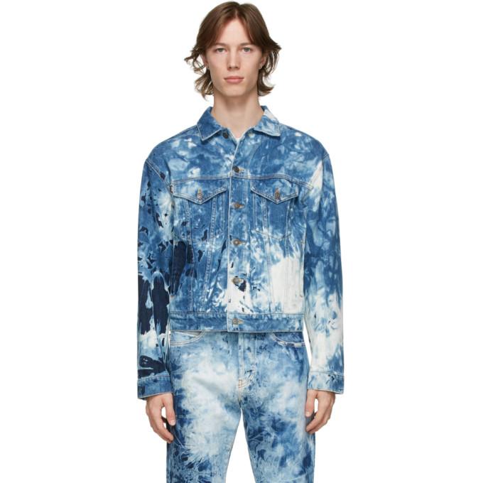 MSGM 蓝色漂白牛仔夹克