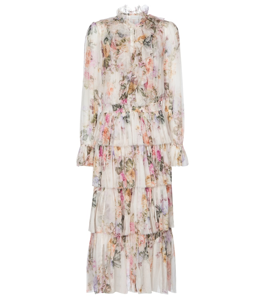 Brighton silk georgette midi dress