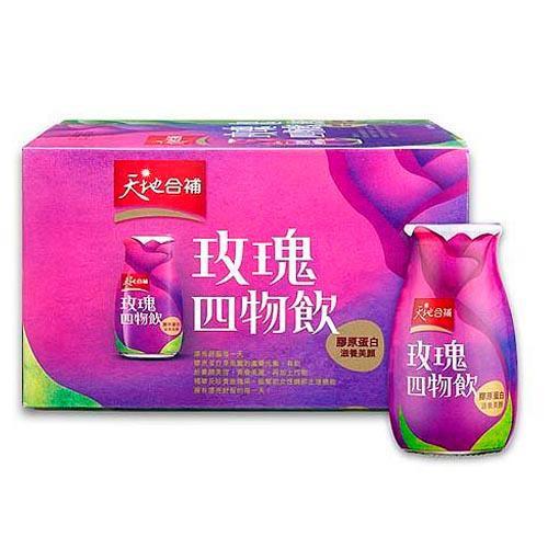 天地合補膠原蛋白玫瑰四物飲120ml x6瓶【愛買】