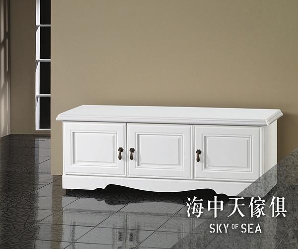 {{ 海中天休閒傢俱廣場 }} J-8 摩登時尚 鞋櫃系列 24-205(507) 烤白4尺座式鞋櫥