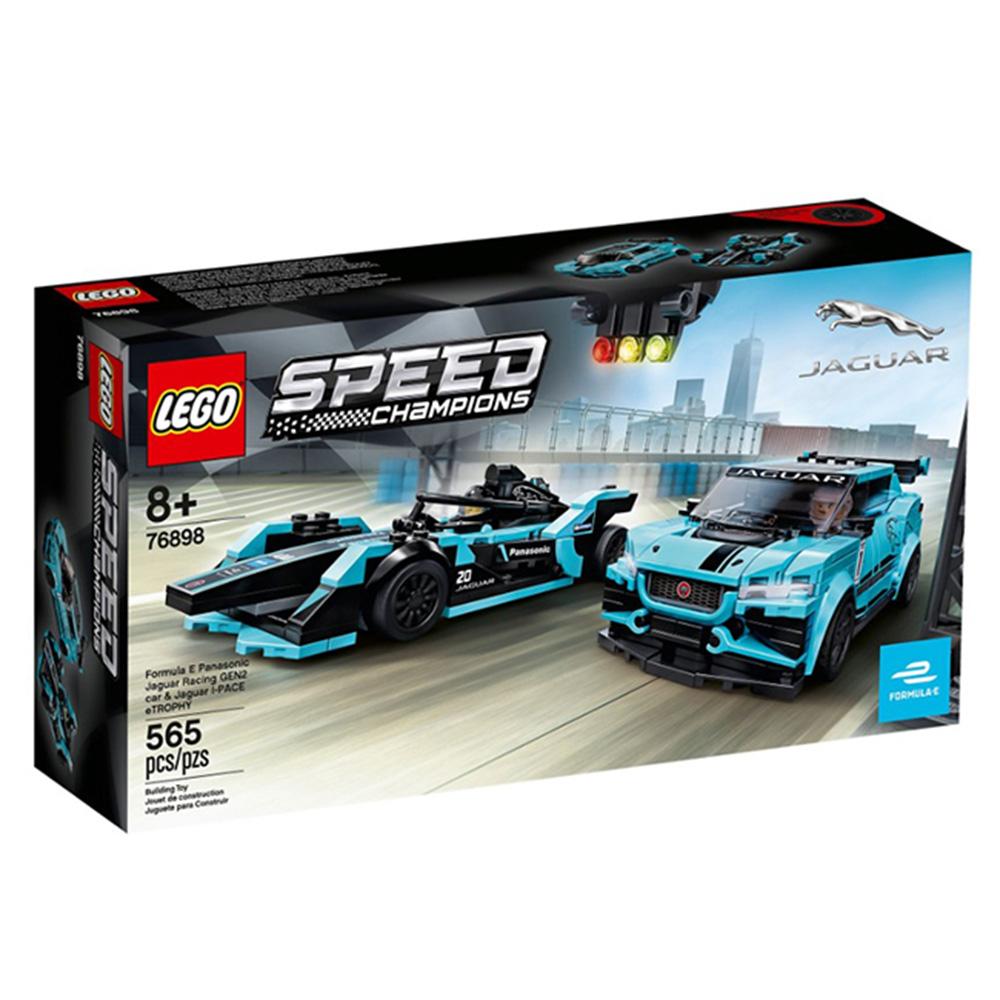 76898【LEGO 樂高積木】賽車 Speed系列 -  捷豹 GEN2 & eTROPHY