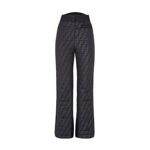 Black nylon trousers
