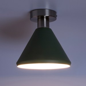(組)特力屋萊特霧銀吸頂壁燈綠金屬燈罩