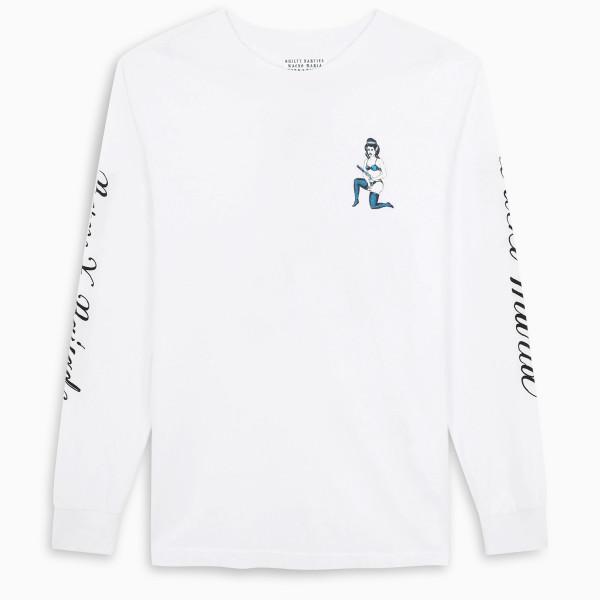 BornxRaised Wacko Maria - white L/S t-shirt