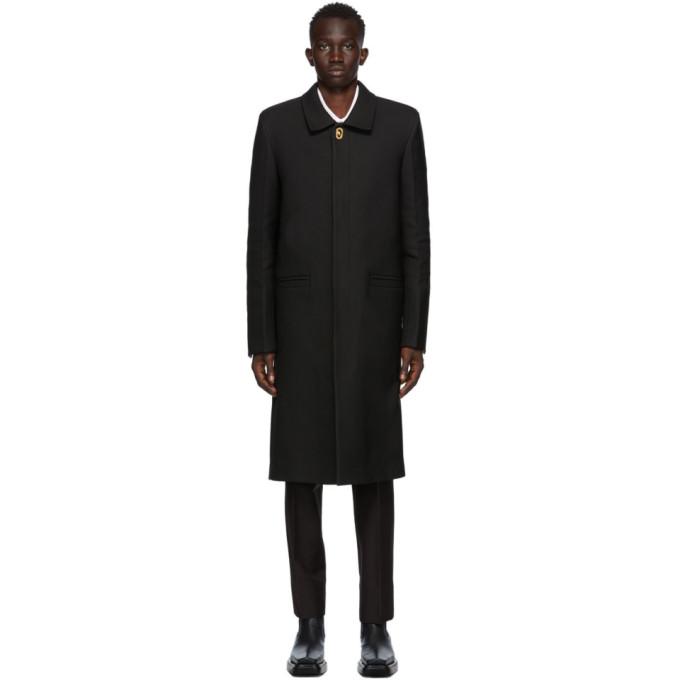 Bottega Veneta 黑色垫肩大衣