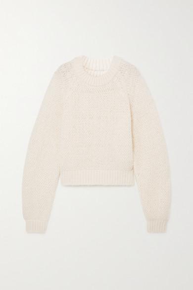 LE 17 SEPTEMBRE - 镂空针织毛衣 - 象牙色 - FR38