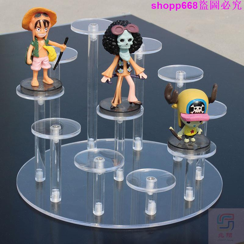 多層透明收納架 小公仔展示架 手辦泡泡瑪特置物架 娃娃展架 珠寶戒指展示架 透明展示架 飾品置物架 展示架子 物件展示櫃