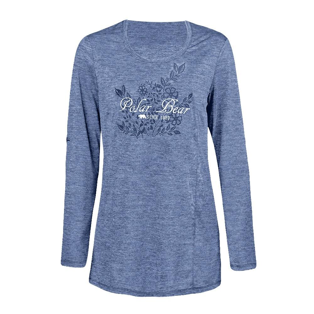 【POLAR BEAR】女吸濕排汗印花T恤-青麻-20T30