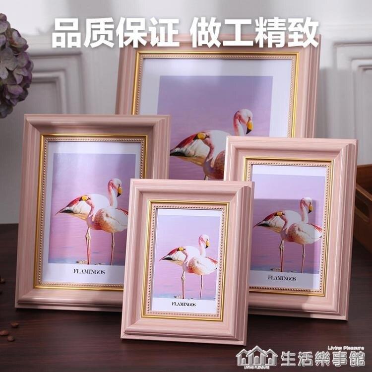 復古相框擺台創意照片框5寸6寸7寸8寸10寸A4寸兒童掛墻擺件像畫框 生活樂事館
