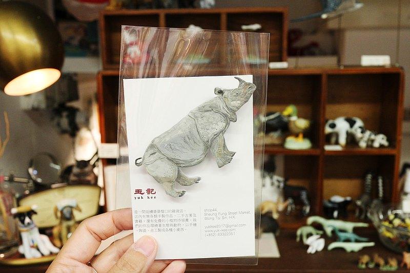 越南爪哇犀牛 / 消失動物系列 / 手繪襟針