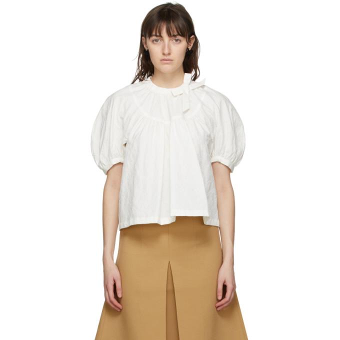 Shushu/Tong 灰白色 Round Sleeve 上装