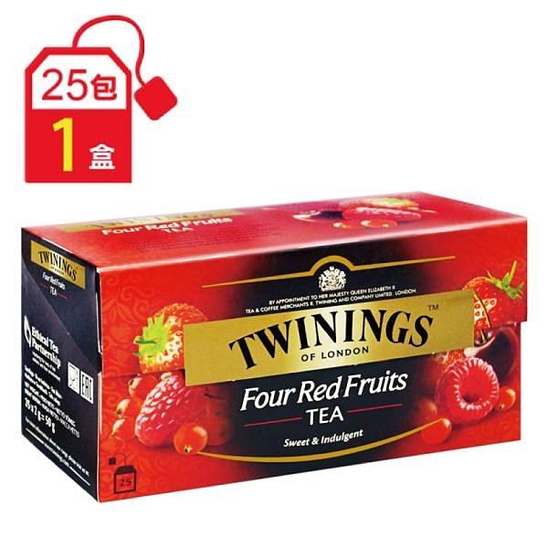 【南紡購物中心】《TWININGS唐寧英國皇室御用茶》調味紅茶系列 四紅果茶(2g x25包)