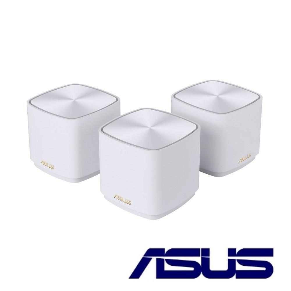 【ASUS 華碩】 ZENWIFI AX Mini XD4 三入組 AX1800 Mesh 雙頻全屋網狀 WiFi 6 無線路由器(分享器)