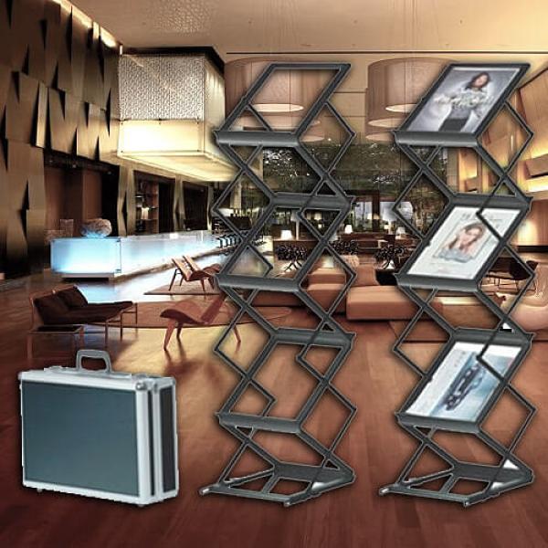 【企隆 圍欄 飯店用品】A4多層資料架(黑)/H109黑 開店/展示/資料櫃