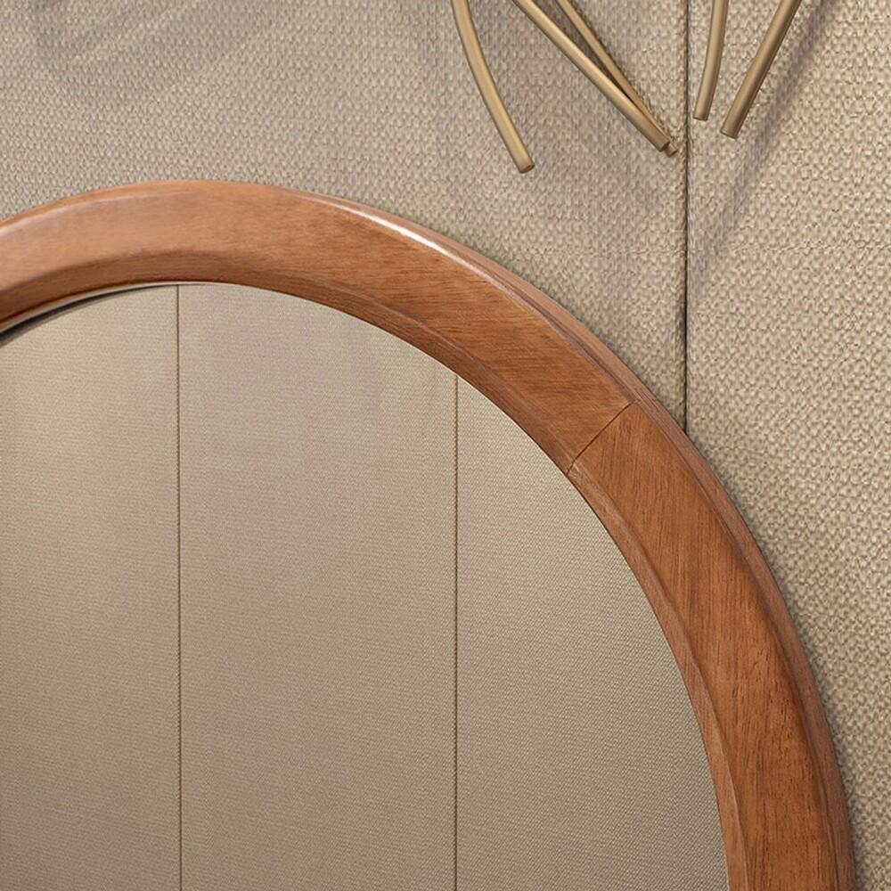 hoi林氏木業中式烏金木色實木框雙抽儲物化妝桌 cu2c