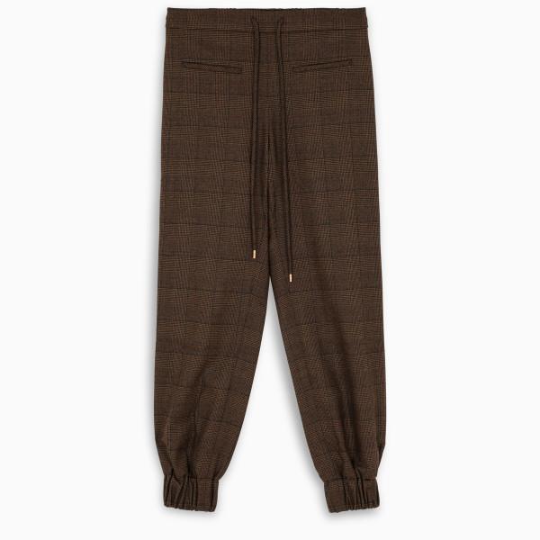 MOON CHOI Vintage plaids jogger pants