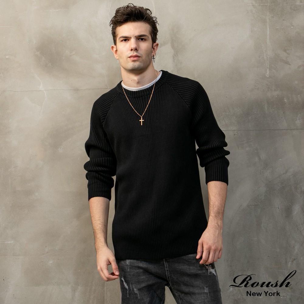 Roush - 高磅數立體坑條針織毛衣【916699】