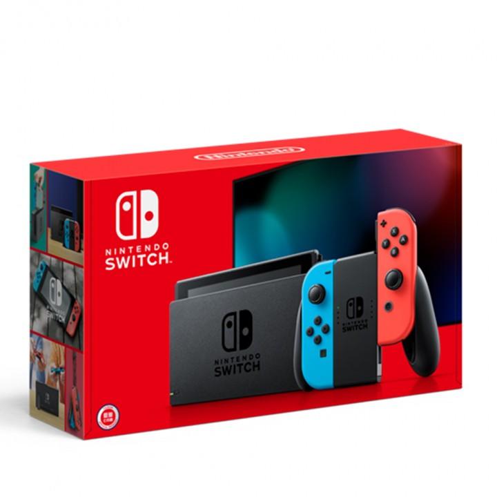 Nintendo任天堂 Switch 紅藍主機 電池加強版