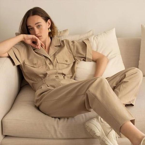 【南紡購物中心】《D Fina 時尚女裝》 個性復古風 帥氣性格工裝套裝
