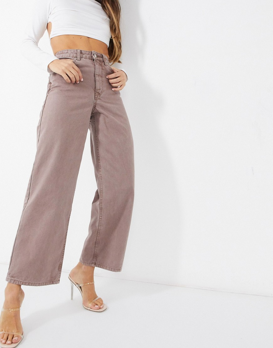 ASOS DESIGN high rise 'relaxed' dad trouser in tan