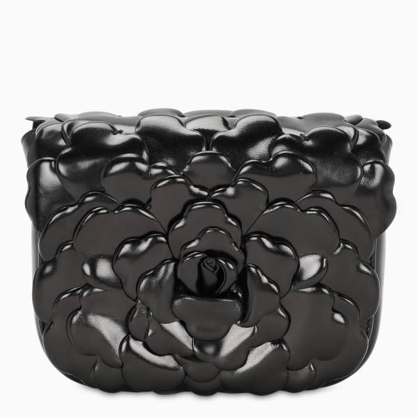 Valentino Garavani Black small Atelier 03 Rose Edition bag