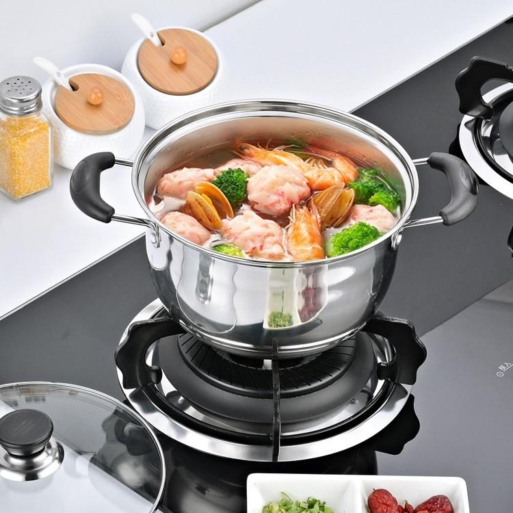 湯鍋 加厚不銹鋼湯鍋小火鍋煲湯鍋具家用煮粥不黏鍋奶鍋燃氣電磁爐通用 nms
