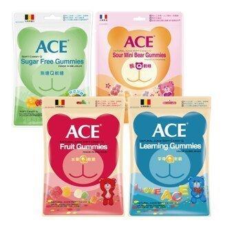*雯子館* 比利時原裝進口 ACE 水果Q / 字母 / 無糖/ 酸熊Q 軟糖-48G